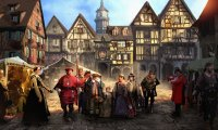 Medieval town market