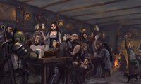 ambient of a medieval fantasy tavern